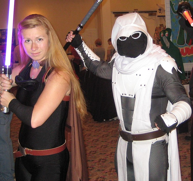 Moon Knight from Marvel Comics becomes a Jedi and Star Wars cosplayer