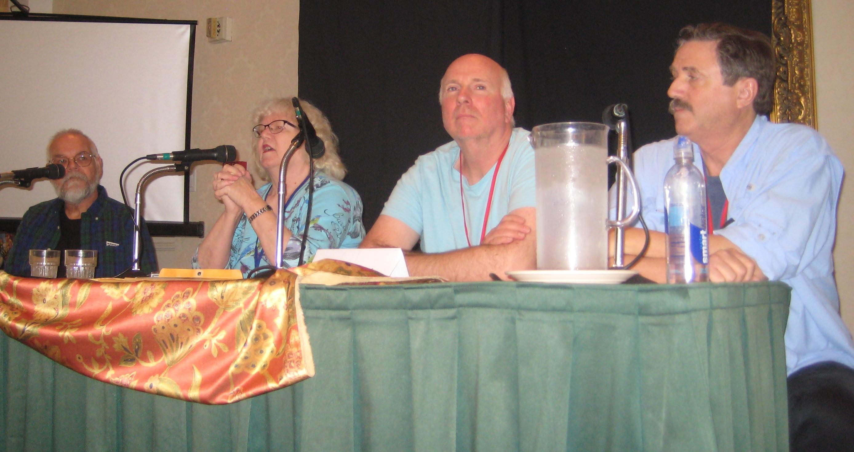 Dennis Smith, Jackie Estrada, Mike Towry and David Clark on San Diego Fandom in the 1960s panel