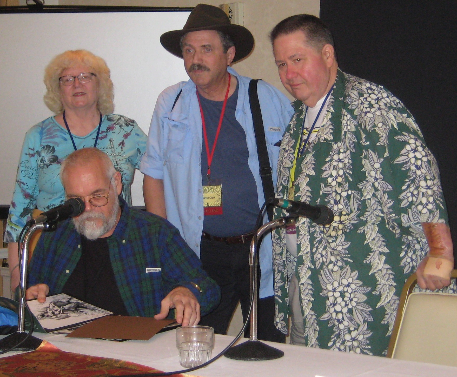 Jackie Estrada, Dennis Smith, David Clark and Scott Shaw on San Diego Fandom in the 1960s panel