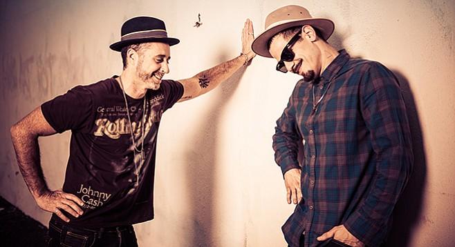 "Vokab Kompany's Matt ""Burkey"" Burke (left): ""We're like a jam band added to hip-hop."""