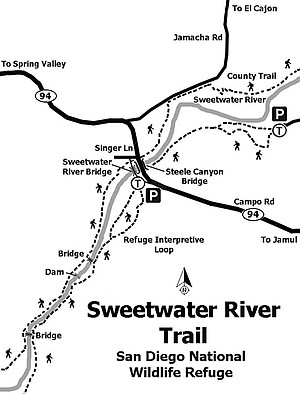 Map of the Sweetwater River Trail