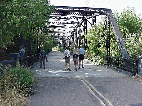 Iron bridge over Sweetwater River