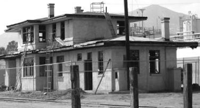 """Tecate train station. """"Train stations were mostly kit buildings. You'd buy the blueprint, and they'd all be practically the same building from small town to small town."""""""