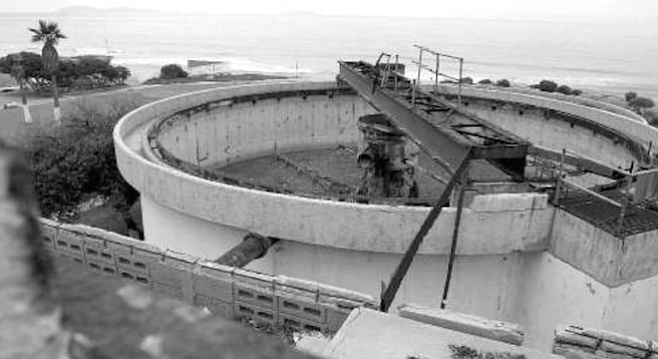 """Playas de Tijuana sewer pump station. """"The Tijuana River is a natural drainage, and its mouth is where most of the beach closures will take place."""""""