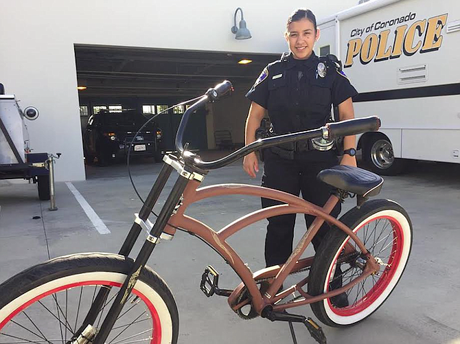 This police-owned bike has been stolen more than once