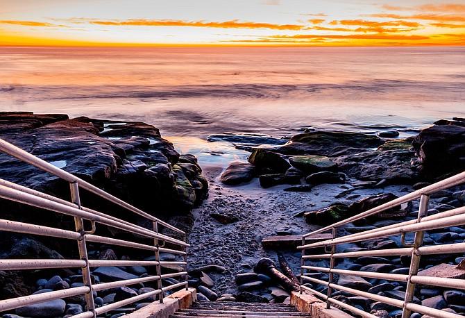 La Jolla winter sunset.  Natures natural artist.