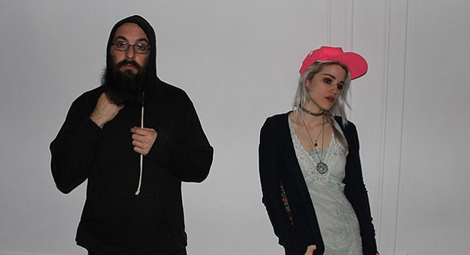 From New York, fuzzy-gaze duo Dirty Dishes stack up at Soda Bar on Thursday night!