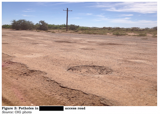 """Department of Homeland Security report makes mention of """"unsafe and deteriorating"""" roads"""