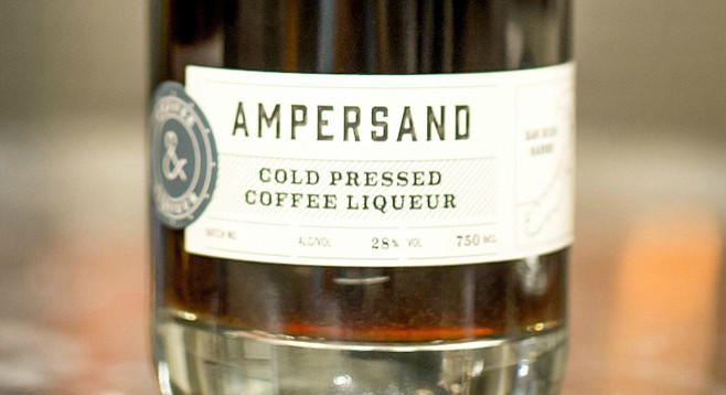 Ampersand coffee liqueur takes its name from the logo of coffee roaster Coffee & Tea Collective.