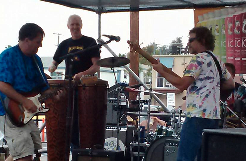 Electric Waste Band, currently celebrating 24 years at Winston's, takes the OB stage Monday night. (Check out the big man Bill Walton on the bongos!)