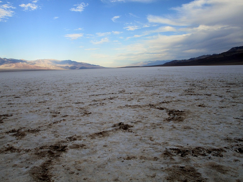 The lowest and hottest point in the U.S., Badwater Basin.