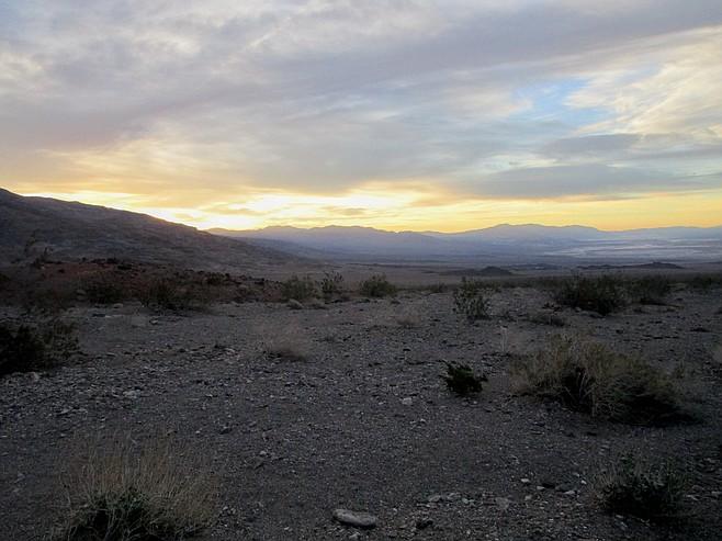Death Valley at dawn.