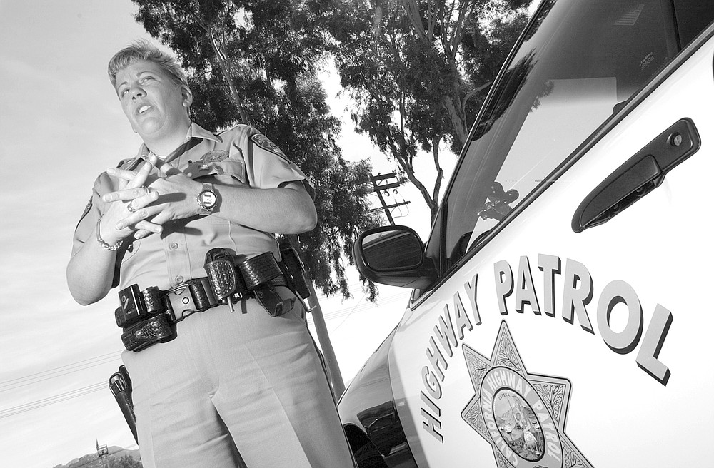 """Officer Gwen Goodwin: """"Maybe the drivers have decided to go out and gamble at Barona Casino, and they drive the run too fast."""""""
