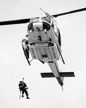 Chopper Two in training exercise with U.S. Customs and Border Patrol. Copter One is available from 7:00 a.m. to 7:00 p.m. and Copter Two from 11:00 a.m. to 11:00 p.m.