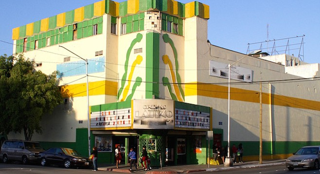 Cinemas Latino — make sure you check the marquee to avoid disappointment