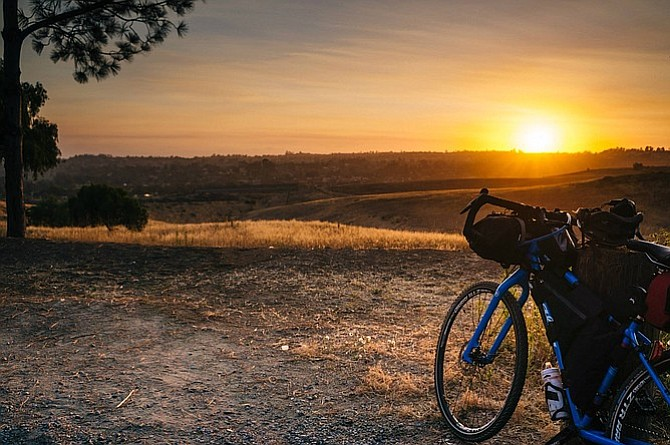 A photo my friend snapped of the amazing sunset view we had at Sweetwater.