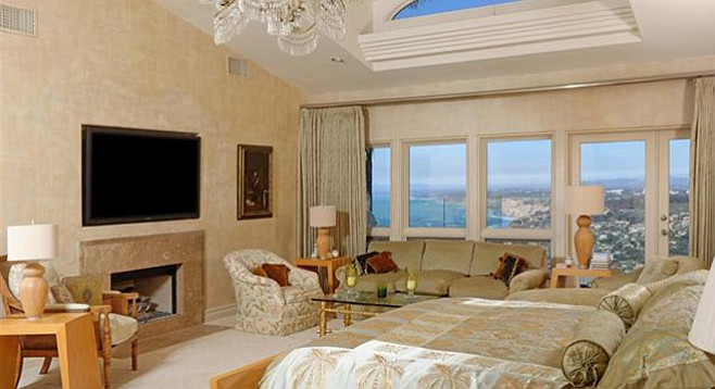 """The master suite """"indulges the owner"""""""