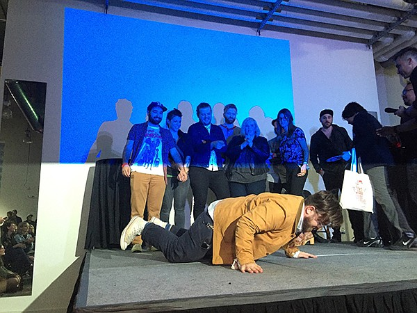 Contestants gathering on stage at Adobe's Creative Jam Photography