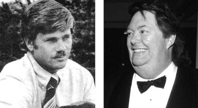 MIchael Copley (c. 1980) and David Copley, both adopted by the late Jim Copley. You probably know of David, now president of Copley Press, but it's unlikely you have heard of Michael.