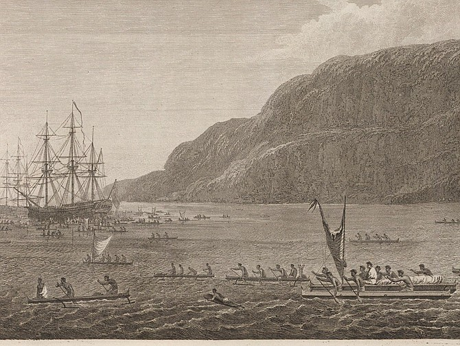 Captain Cook's artist depicted paddleboarders in Hawaii over 200 years ago.