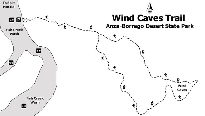 Wind caves trail map