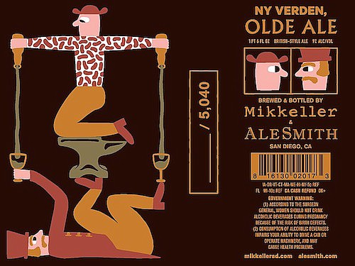 Prospective beer label for NY Verden, an olde ale style being brewed by Mikkeller SD