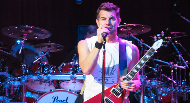 Singer/guitarist Nick Hexum slithered through the same dance moves that have been a part of his stage act since the George W. Bush administration.