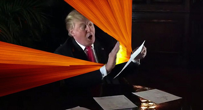 """""""I have glowing reports on the Trump University seminars from the very people who are suing me because they say Trump University wasn't helpful to them. Glowing, I tell you!"""