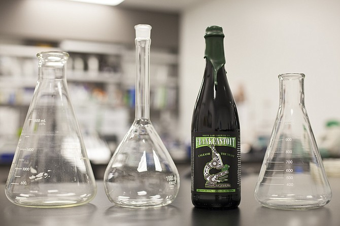 Frankenstout is beer born of a lab experiment.