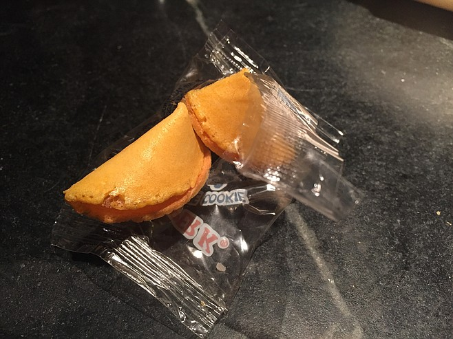 An old, stale fortune cookie