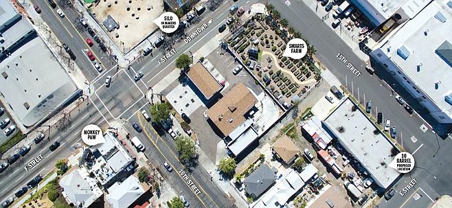 East Village aerial photo