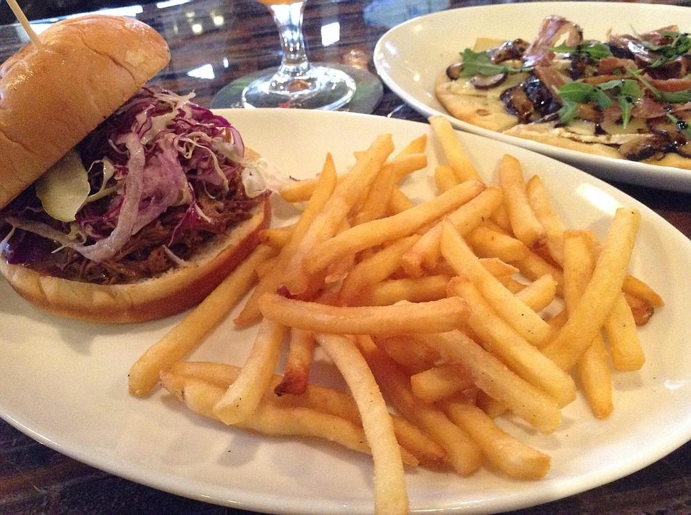 Pork sandwich: $5 special includes fries