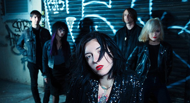 Goth-pop band Wax Idols take the stage at the Hideout on Friday.