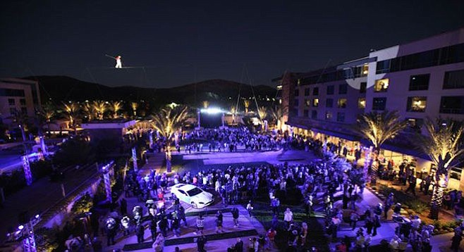 Viejas' Concerts in the Park venue, which was once the setting for the San Diego Music Awards, was replaced in 2010 by an ice-skating rink.