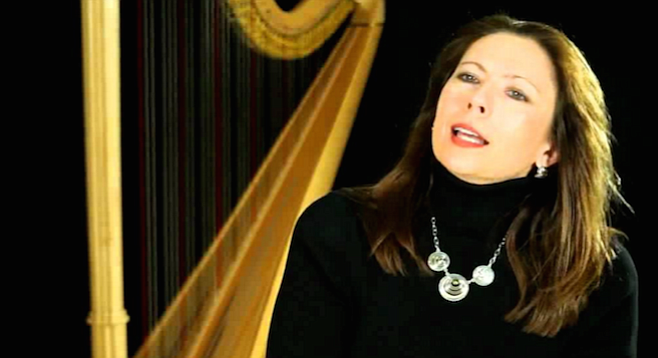 Harpist Yolanda Kondonassis