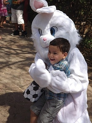 Easter Bunny at the San Diego Botanical Garden