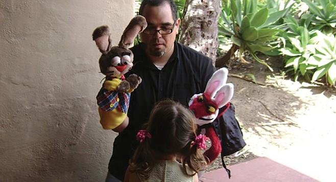 Gaston Morineau with Benito Bunny