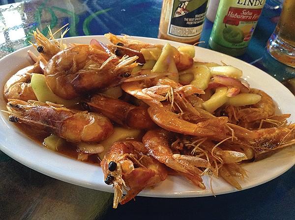 My shrimp cucarachas