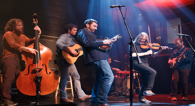 The band's harmonies soared over a weave of banjo, guitar, upright bass, and lively interplay between mandolin and fiddle.