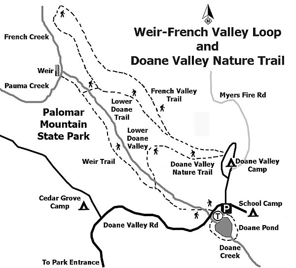 Map of Weir-French Valley Loop and Doane Valley Nature Trail