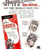"""National Screen Service's instructional booklet advises exhibitors on how to put cottontails in seats. """"The ..."""