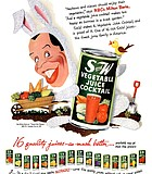 Milton Berle for Straight & Wide Vegetable Juice Cocktail. This 1952 ad was designed by ...