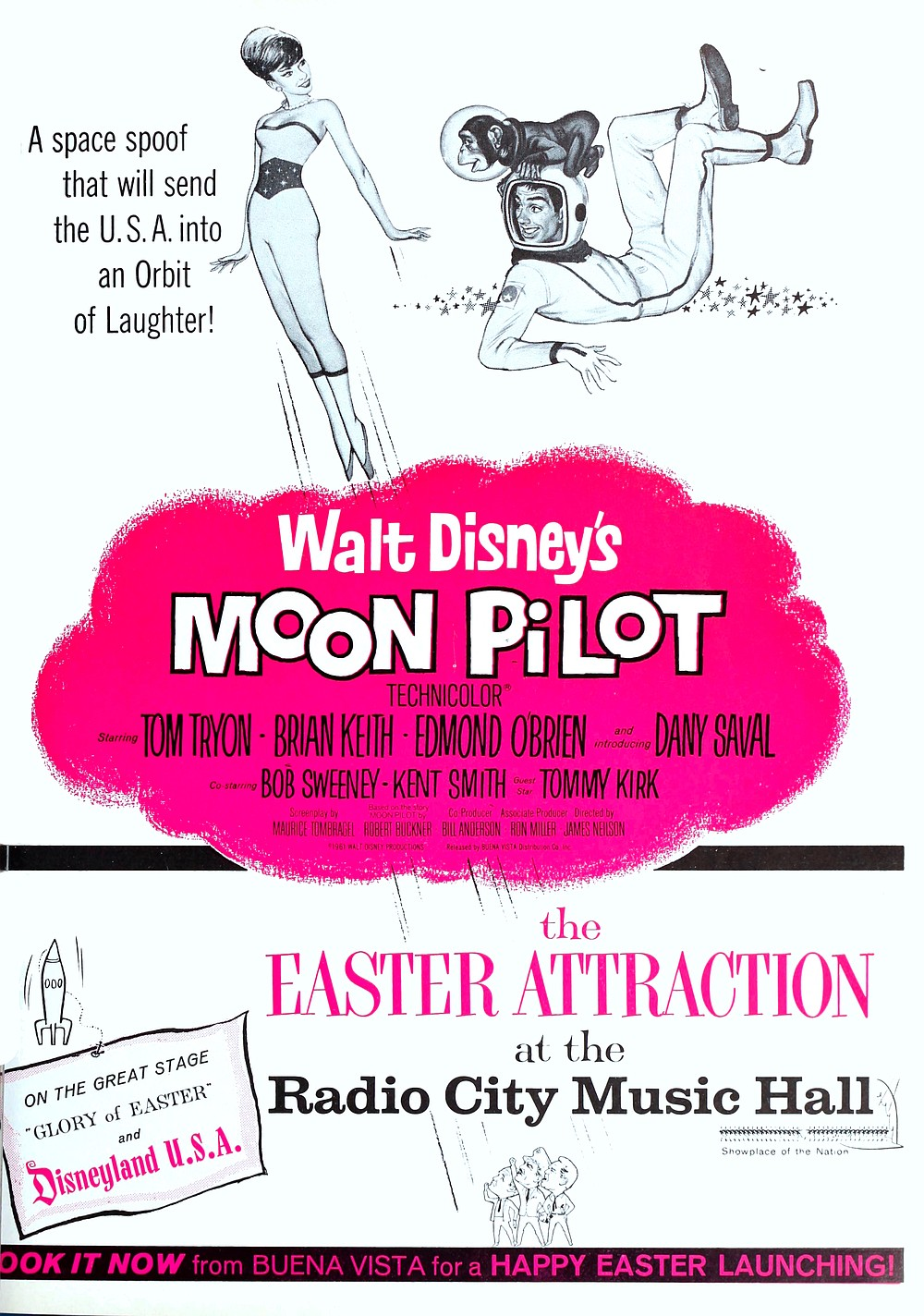 """Disney lays an egg for Easter in the form of this soft-boiled intergalactic romp. """"Independent Exhibitors Film Bulletin,"""" March 1962."""