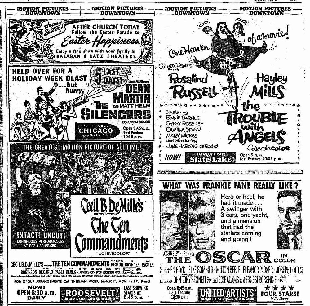 """Who's your Messiah now? Frank Fane, in a film so bad it's enlightening! """"The Chicago Tribune,"""" April 10, 1966."""