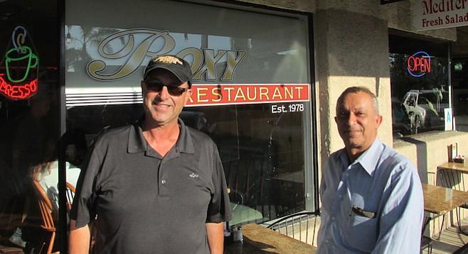Roxy Restaurant owners Shahram and Shaja Naimi