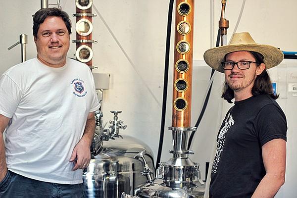 Bill Rogers of Liberty Call Distilling, LLC, and Luke Oskam of Kill Devil Spirit Co.