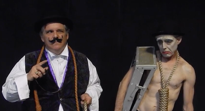 Fred Harlow and Don Loper in Waiting for Godot