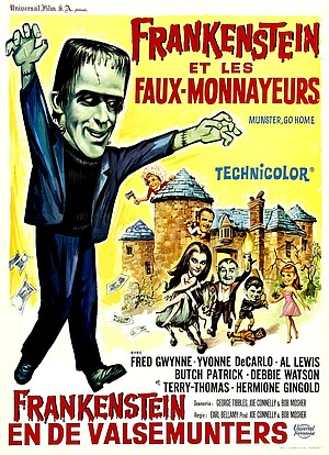 Belgian poster for Frankenstein et les Faux-Monnayeurs