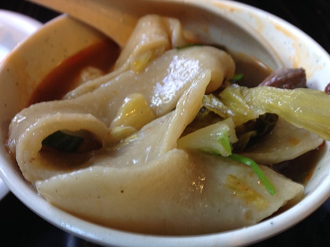 When ordering noodle soup at Liang's, choose the lapian option
