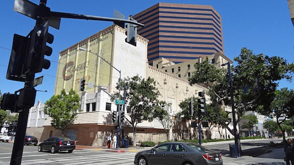C Street side of California Theatre